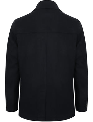Umberto Wool Rich Double Breasted Pea Coat In Navy – Tokyo Laundry