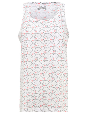 Unny Unicorn Print Lounge Set In Optic White / Bridal Rose - Tokyo Laundry