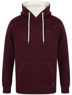 Vandenburg Pullover Hoodie with Borg Lined Hood In Winetasting – Tokyo Laundry