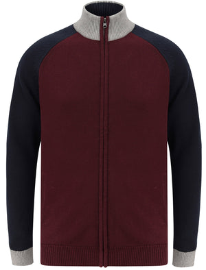 Venables Colour Block Raglan Sleeve Zip Up Cardigan in Port Royale – Tokyo Laundry