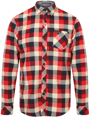 Veracruz Cotton Flannel Checked Shirt In Red – Tokyo Laundry