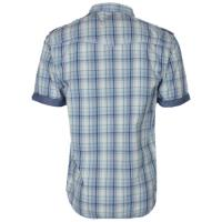Vintage short sleeve checked shirt in blue - Tokyo Laundry
