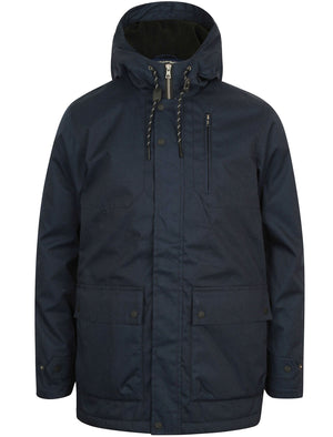 Viola Fleece Lined Hooded Parka Coat in True Navy – Tokyo Laundry