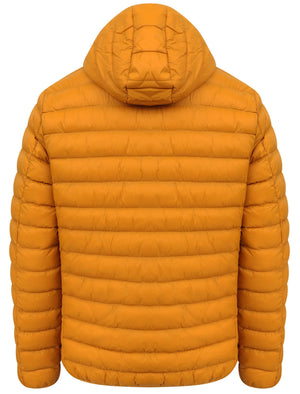 Vizzini Quilted Puffer Jacket with Hood in Buckhorn Brown - Tokyo Laundry