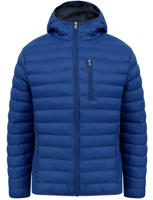 Vizzini Quilted Puffer Jacket with Hood in Sodalite Blue - Tokyo Laundry