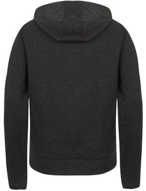 Wave Loop Back Fleece Zip Through Hoodie In Dark Grey Marl – Tokyo Laundry