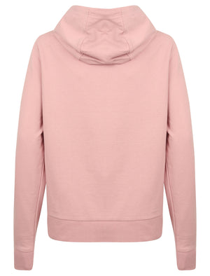 Wave Loop Back Fleece Zip Through Hoodie In Pink - Tokyo Laundry