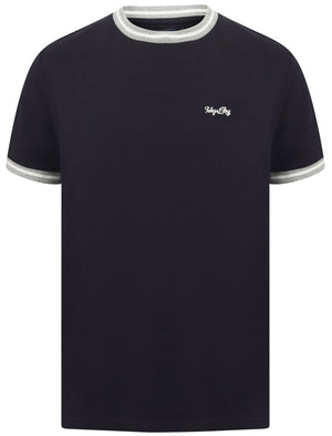 Wentworth Cotton Pique Ringer T-Shirt In Navy – Tokyo Laundry