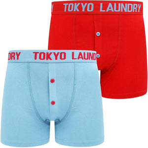 Wetherby (2 Pack) Boxer Shorts Set In Niagara Falls Blue / Barados Cherry – Tokyo Laundry