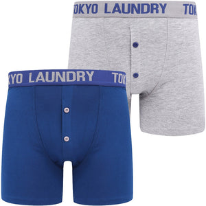 Wetherby (2 Pack) Boxer Shorts Set In Sodalite Blue / Light Grey Marl – Tokyo Laundry