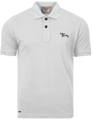 Whidbey Piqué Polo Shirt in Optic White - Tokyo Laundry