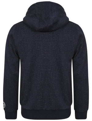 Whonnock Lake Borg Lined Hoodie in Black / Dark Navy Grindle - Tokyo Laundry