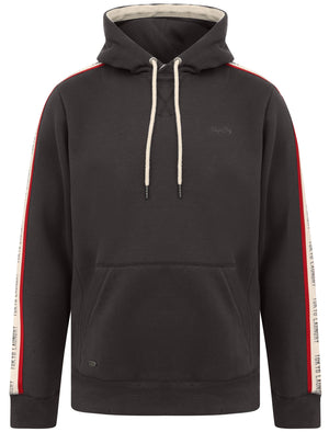Willow Pines Pullover Hoodie with Tape Sleeve Detail In Pirate Black – Tokyo Laundry
