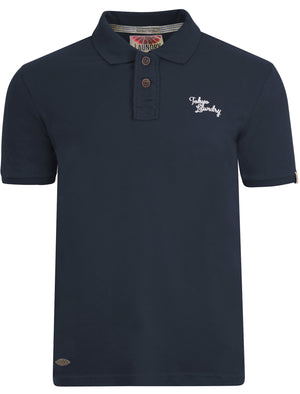 Willowood Piqué Polo Shirt in Dark Navy - Tokyo Laundry