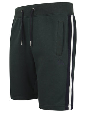 Winfield Cove Jogger Shorts with Side Tape Detail In Dark Green – Tokyo Laundry