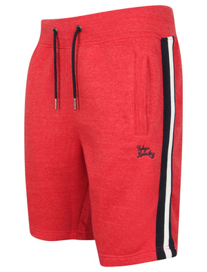 Winfield Cove Jogger Shorts with Side Tape Detail In Tokyo Red Marl – Tokyo Laundry