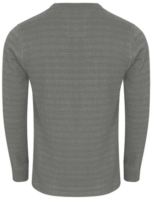 Winter Peak Henley Long Sleeve Top in Light Grey Marl - Tokyo Laundry