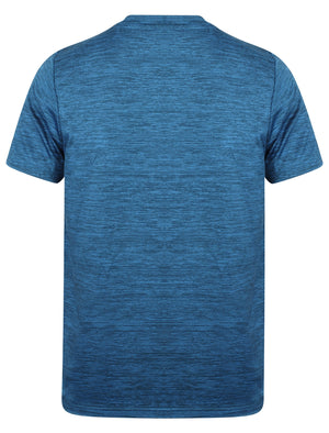 Wolfburg V Neck Sports T-Shirt In Seaport Blue – Tokyo Laundry Active