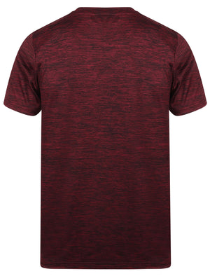 Wolfburg V Neck Sports T-Shirt In Windsor Wine – Tokyo Laundry Active