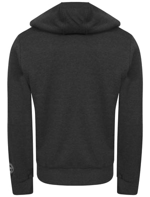Wolfe Point Borg Lined Zip Through Hoodie In Charcoal Marl - Tokyo Laundry