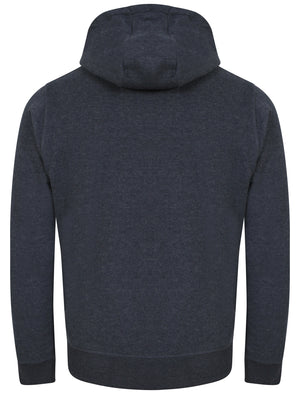 Wood River Zip Through Hoodie in Dark Denim Marl - Tokyo Laundry