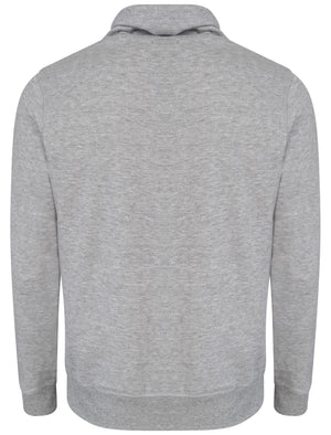 Woodstock Cove Cowl Neck Pullover Hoodie in Light Grey Marl - Tokyo Laundry