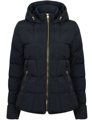 Wookie Quilted Hooded Jacket in Navy Blazer – Tokyo Laundry