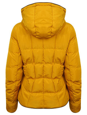 Wookie Quilted Hooded Jacket in Old Gold – Tokyo Laundry