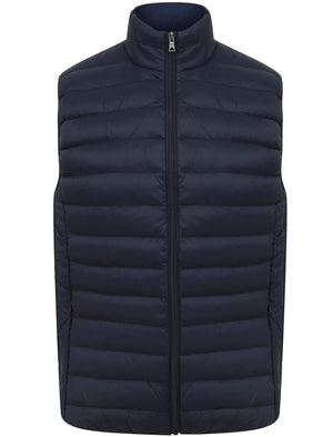 Yellin Quilted Puffer Gilet with Fleece Lined Collar in Mood Indigo – Tokyo Laundry