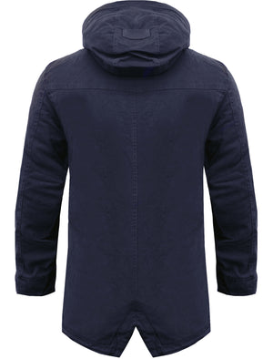 Yoakam Cotton Twill Parka Jacket in Midnight Blue  - Tokyo Laundry