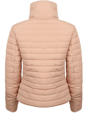 Zelda 2 Funnel Neck Quilted Jacket in Blush Pink - Tokyo Laundry