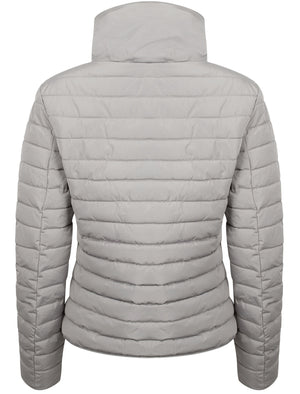 Zelda 2 Funnel Neck Quilted Jacket in Silver Sconce - Tokyo Laundry