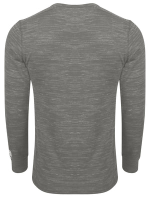 Roswell Peak Injection Marl Long Sleeve Henley Top in Antique Gunmetal – Tokyo Laundry