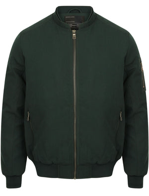 Whitecross Zip Up Bomber Jacket in Bottle Green - Dissident