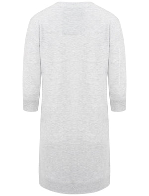 'Love U More' Longline Sweatshirt in Grey - TBOE (Guest Brand)
