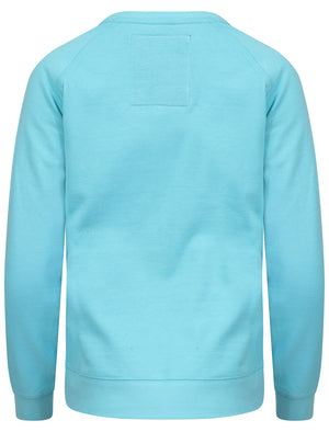 Royal College Printed Sweatshirt in Turquoise - TBOE (Guest Brand)