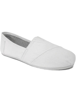 Womens Eira Slip On Canvas Espadrilles in White