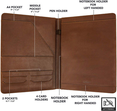 Brown Executive Padfolio