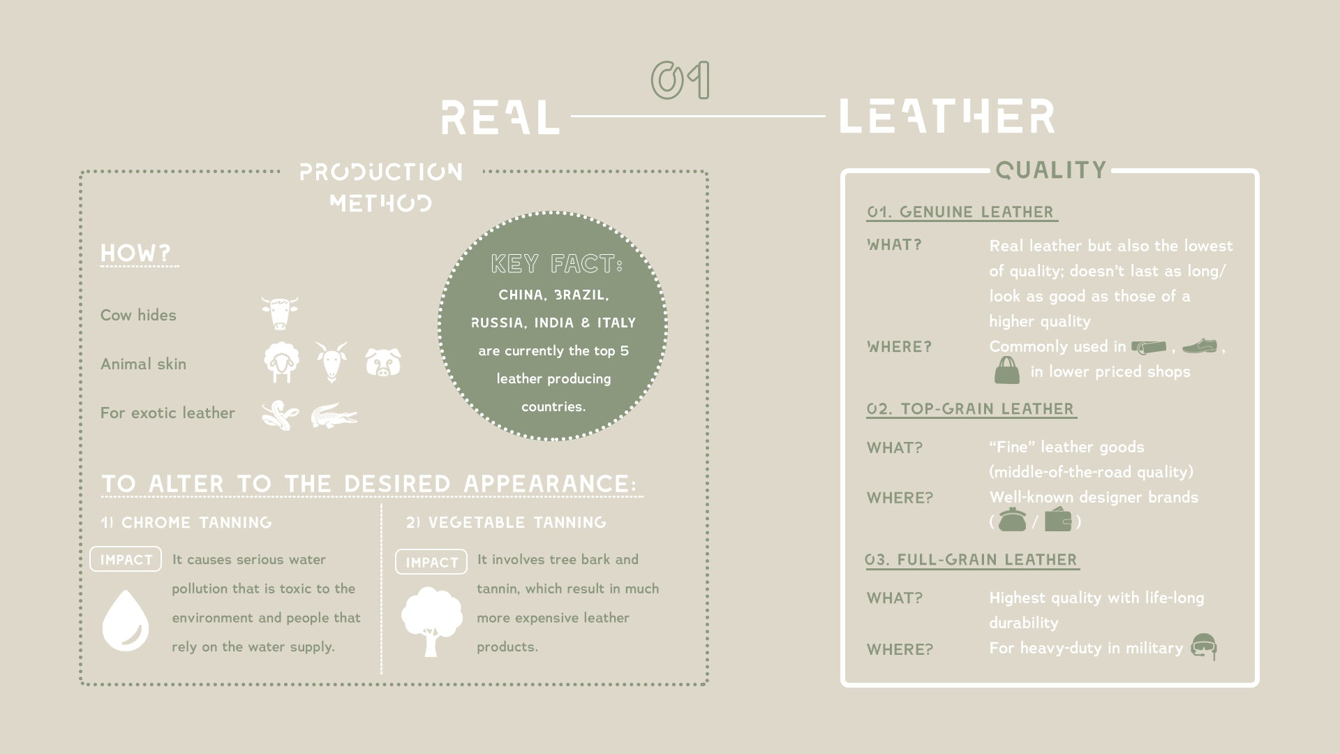 real leather infographic