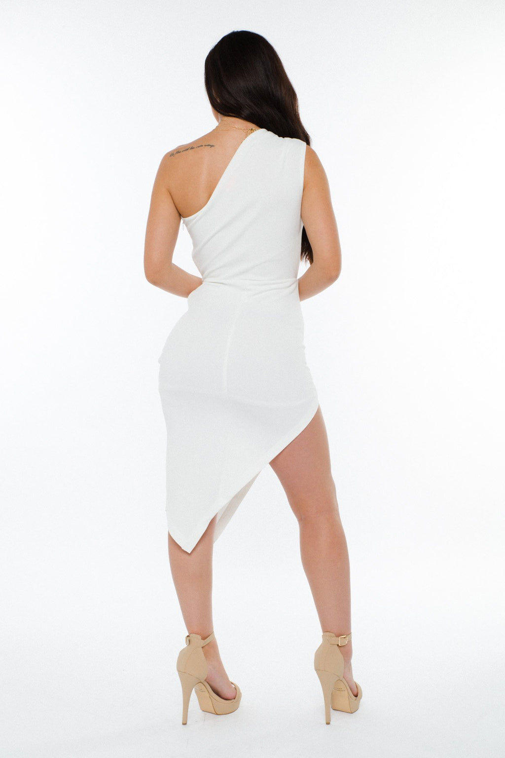 Adrian One Shoulder Dress