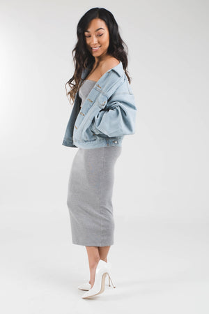 Gigi oversized denim jacket