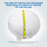 ComfyDown 95% Feather 5% Down, Diameter Round Decorative Pillow Insert, Sham Stuffer - MADE IN USA