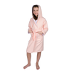 ComfyDown Kids Luxury Pink Hooded Bathrobe for Girls- Soft, Plush - Made in USA