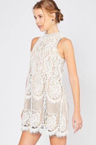 Carried Away Lace Cami Tank - Off White