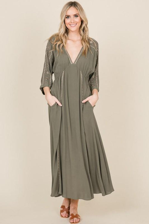 A Heart Like Mine Maxi Dress - Olive