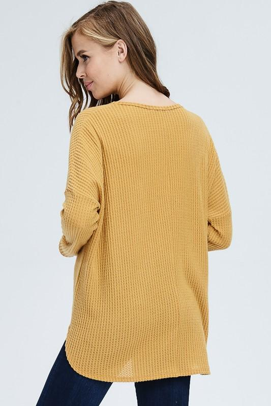Just As You Are Knit Top - Mustard