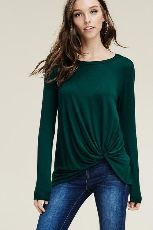 I'm Coming Home Blouse - Hunter Green