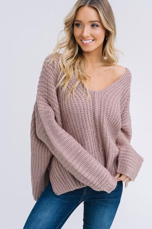That Fall Feeling Knit Sweater - Mocha