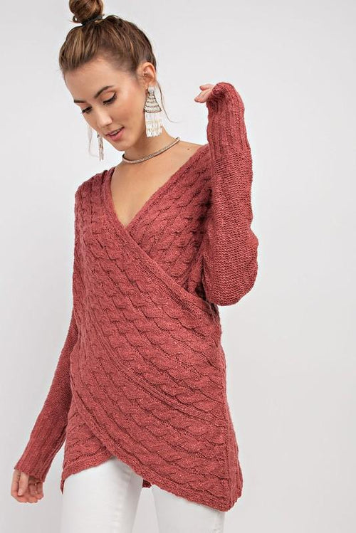 Raleigh Knit Sweater - Crimson