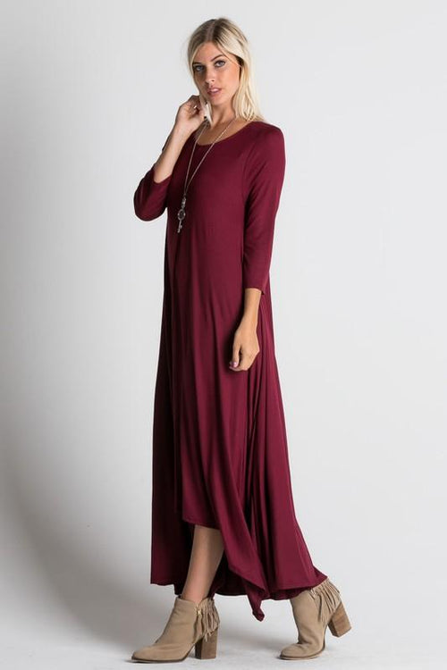 Simply Beautiful Maxi Dress - Wine